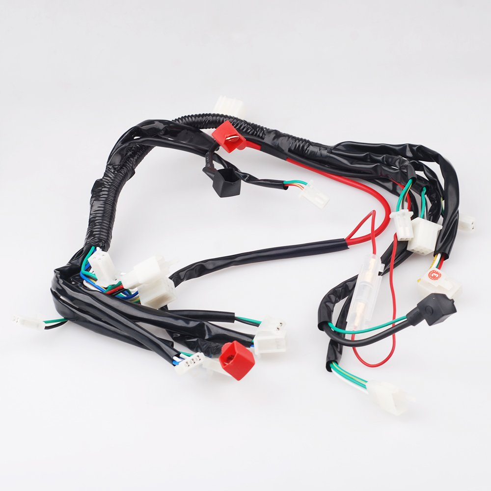 Chinese Atv Utv Quad 4 Wheeler Electrics Wiring Harness Fog Light Switch Diagram Also 3 Wire Trailer Tail 50cc 70cc 90cc 110cc Automotive