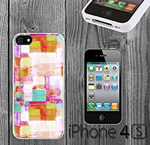 Colorful Geometric Design Custom made Case/Cover/skin FOR iPhone 4/4s - White - Rubber Case ( Ship From CA) by runtopwell