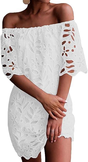 Yoins Femme Robe D Ete Sexy Mini Robe Epaules Nus Robe Courte Imprime Florale Dress Robe De Printemps Manches Longues Amazon Fr Vetements Et Accessoires