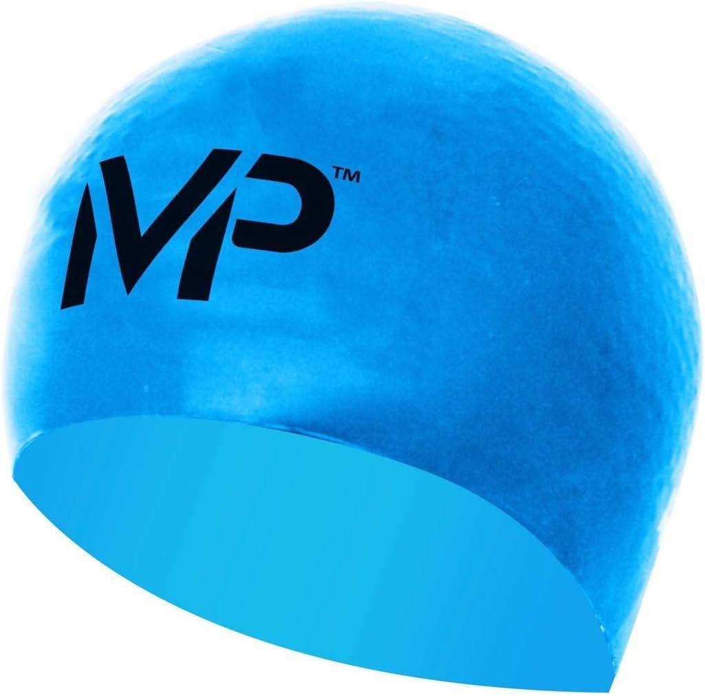 MP Michael Phelps Race Gorro de natación, Unisex, Azul y Negro, Talla única: Amazon.es: Deportes y aire libre