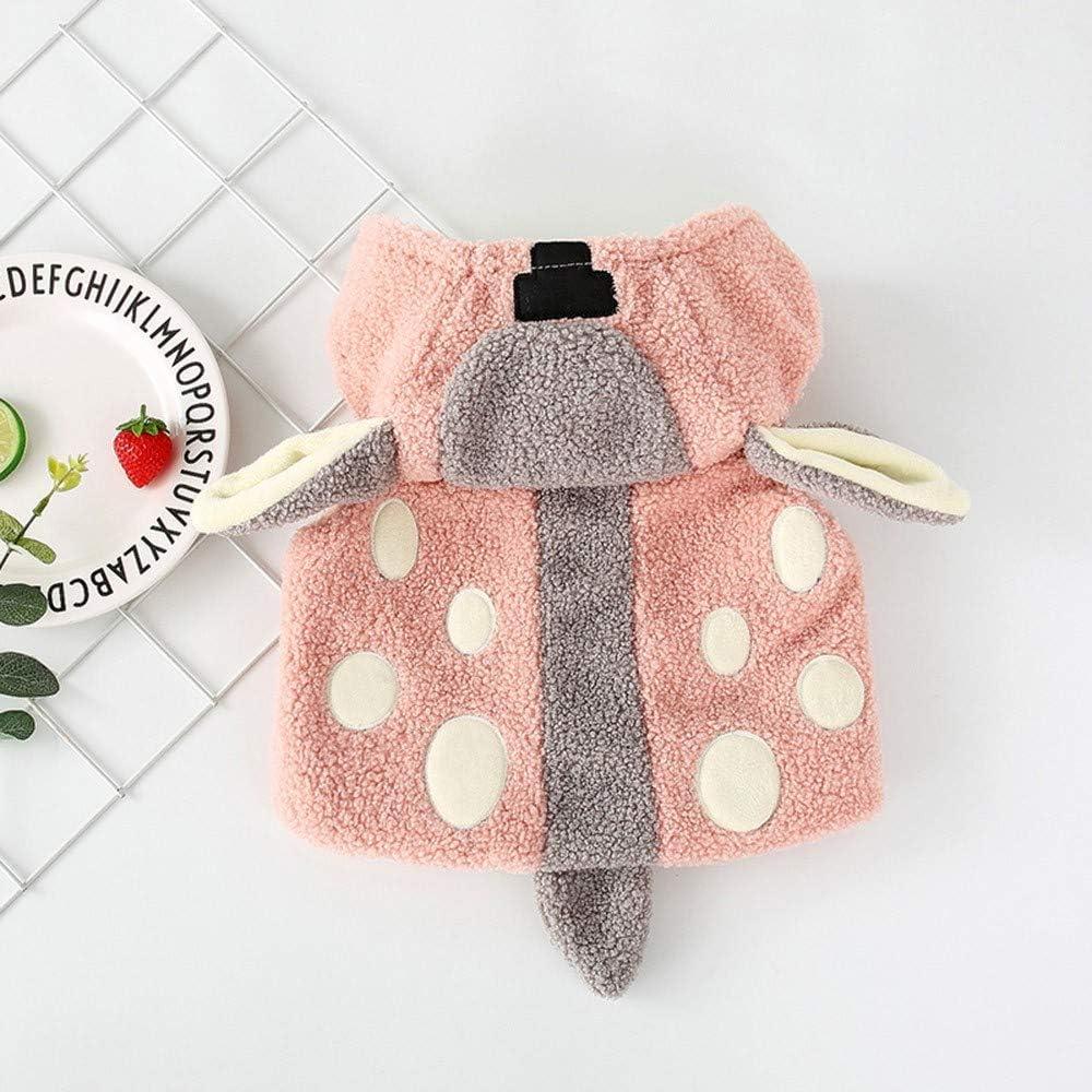 Anxinke Newborn Toddlers Winter Warm Cute Fleece Hooded Waistcoat