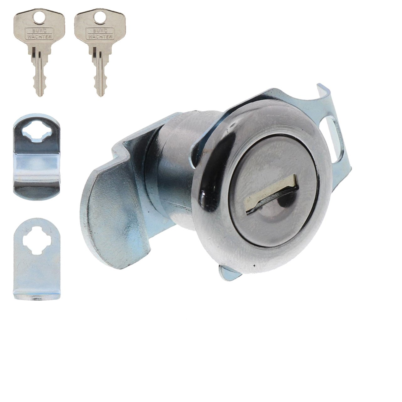 Chrome-Plated for Material Thickness of 1 to 2 mm ZBK 71 SB 1 Supplied BURG-W/ÄCHTER Replacement Cylinder for Cam Lock for Letter Box