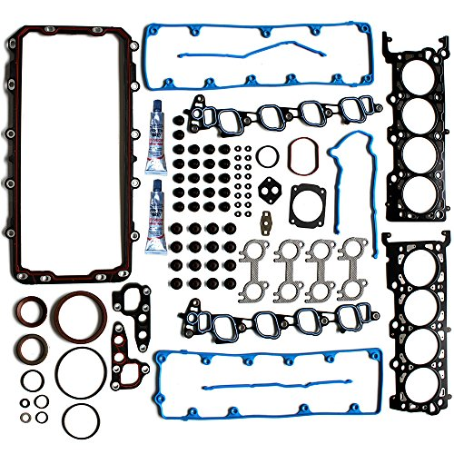 Kit Full Gasket Sohc (ECCPP Full Head Gasket Bolts Sets Replacement for Automotive Replacement Engine Full Head Gasket Kits for Ford Expedition F-150 F-250 E150 Econoline 1997 1998 1999 4.6L V8 SOHC)