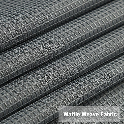 NANAN Tier Curtains,Waffle Woven Textured Bathroom Window Curtains,Tailored Waterproof Short Window Kitchen Cafe Curtains - 30'' x 36'', Grey, Set of 2 by NANAN (Image #4)'