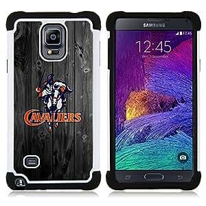 - Virginia Cavalier Football/ H??brido 3in1 Deluxe Impreso duro Soft Alto Impacto caja de la armadura Defender - SHIMIN CAO - For Samsung Galaxy Note 4 SM-N910 N910