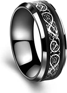 Engraved ring the dragon size 8 (N O: 316L)