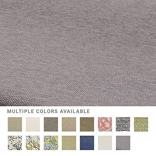 eLuxurySupply Fabric by The Yard - Polyester Blend Upholstery Sewing Fabrics with LiveSmart Technology - Peyton Slate Pattern