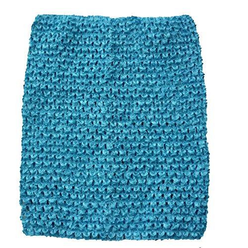 Band Tube Dress (KADIWOW Crochet Tutu Tops For Kids (12 INCH, Blue))