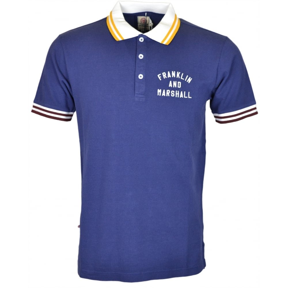 Franklin & Marshall - Polo - para Hombre Azul Azul Large: Amazon ...