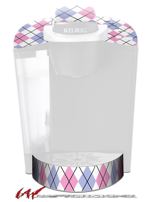 Argyleピンクとブルー – デカールスタイルビニールスキンFits Keurig k40 Eliteコーヒーメーカー( Keurig Not Included )   B017AKDTXW