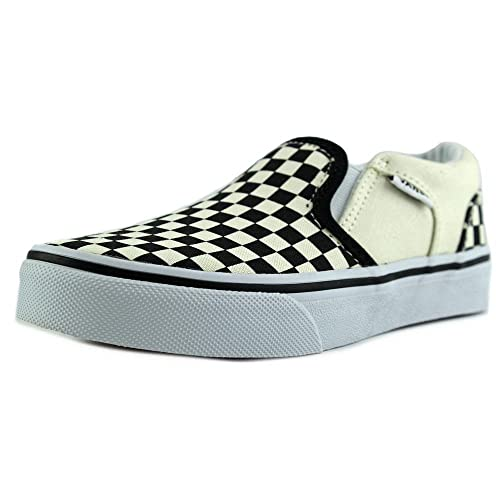Vans VVH0IPD - Zapatillas de Deporte de Lona Niños, Blanco (Blanco (Checkers/Black/Natural)), 31 EU: Amazon.es: Zapatos y complementos