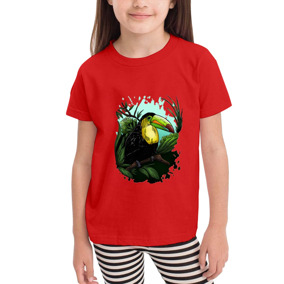 Onlybabycare Toucan 100/% Cotton Toddler Baby Boys Girls Kids Short Sleeve T Shirt Top Tee Clothes 2-6 T
