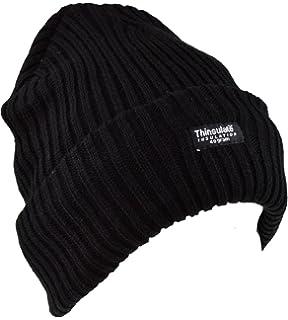 Hombre geschnittet gekre mpelt Thinsulate térmica Invierno Sombrero Negro Con (40g) Forro Thinsulate Esquí