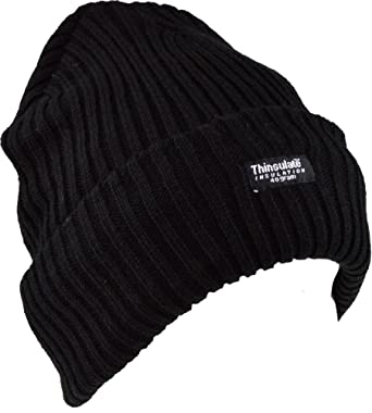 Mens Thinsulate Knit 40g Winter Hat - Black