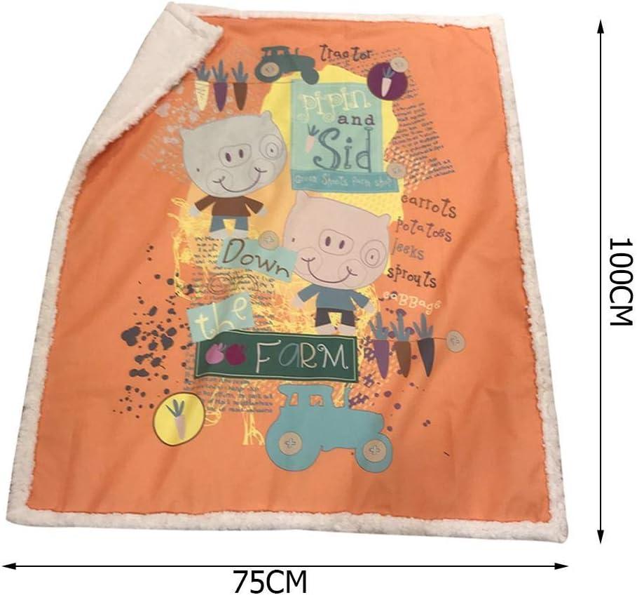 ClothHouse Manta De Moda De Dibujos Animados Manta De Cachemira Manta De Bebé Manta De Aire Acondicionado Manta Engrosada para Mascotas 75-100 Cm 100 * 140 Cm,2,75 * 100
