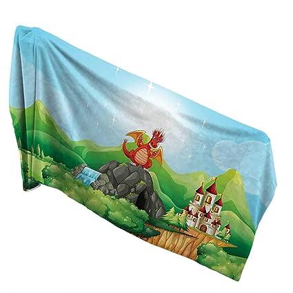 Amazon.com: QIN-Home 100% Cotton Bath Towel 10 x 40 INCH ...