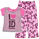 One Direction Pink and Gray Pajamas for Little Girls'