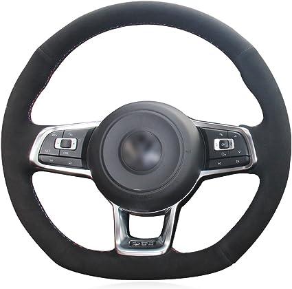 Funda para volante de coche, de gamuza negra para Golf 7 GTI Golf ...