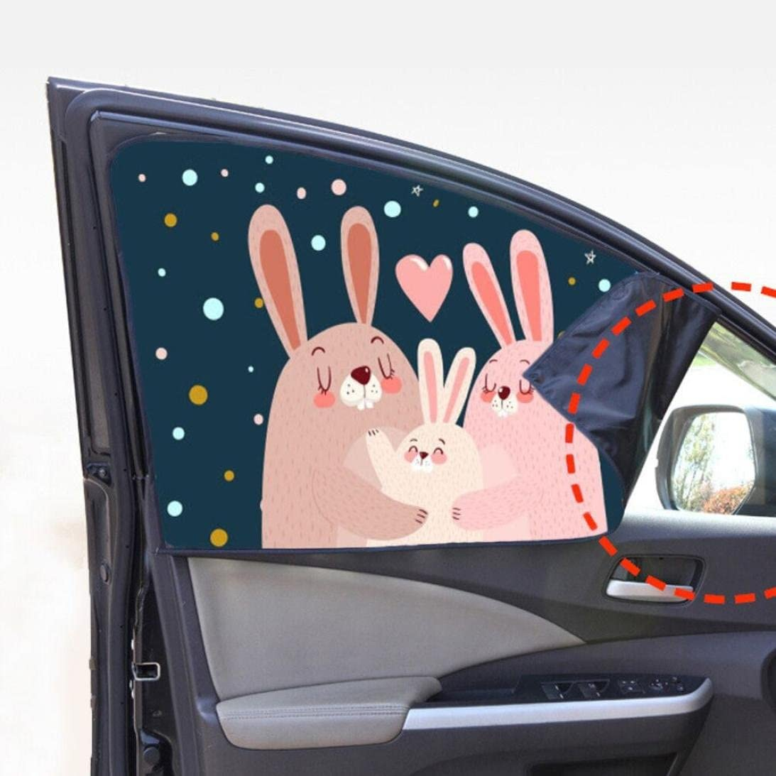 Quaant New Arrival Car-Styling Universal Car Sun Children Shade Curtain Suction Cup Cartoon Proof Side Window C