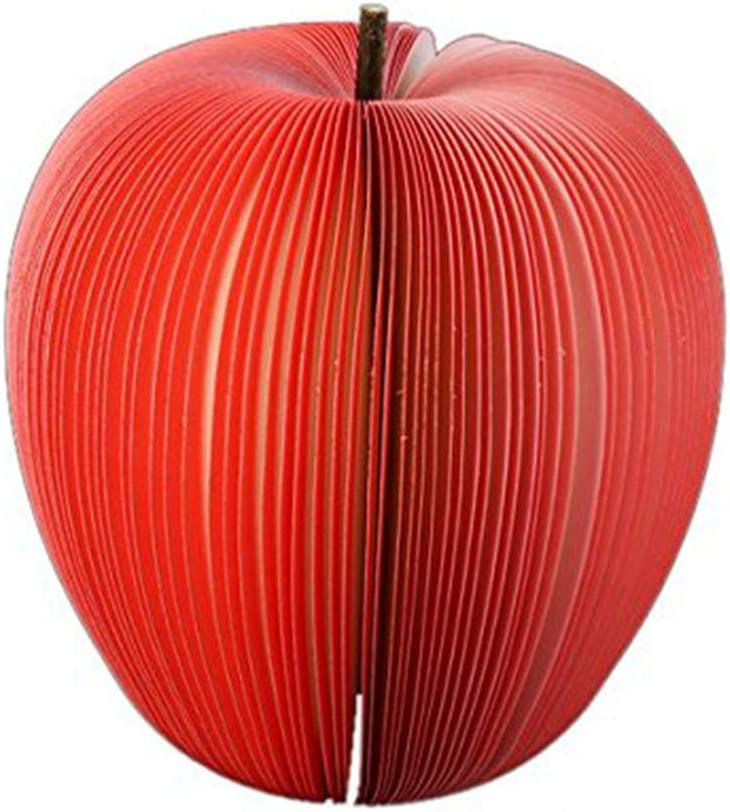 Apple Shape Fruit Note Memo Pads Portable Scratch Paper Notepads Creative DIY Post Sticky for Office Stationary Supplies Red 1pc Stick Self-Stick Notes Office Supplies