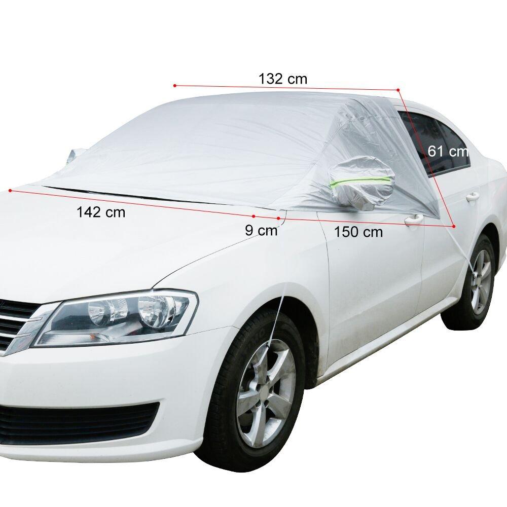 Anpro - Funda para el coche, universal, afelpada, impermeable, que cubre el parabrisas/limpiaparabrisas/espejo del coche durante invierno y verano: ...