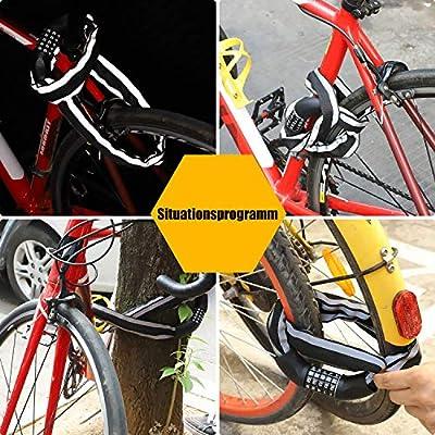 XCH Bicicleta Candado Cadena Candado con Cadena de Acero eslabones ...