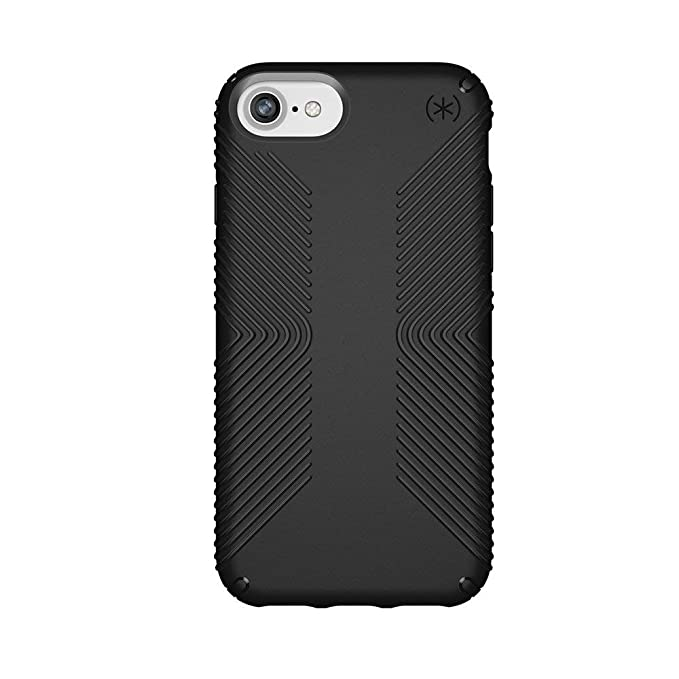 cheap for discount 20739 1c69c Speck Products Presidio Grip Case for iPhone 8 (Also Fits 7/6S/6),  Black/Black