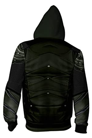 Hombre Coat Oliver Reina para Justice League Arrow Sudadera ...