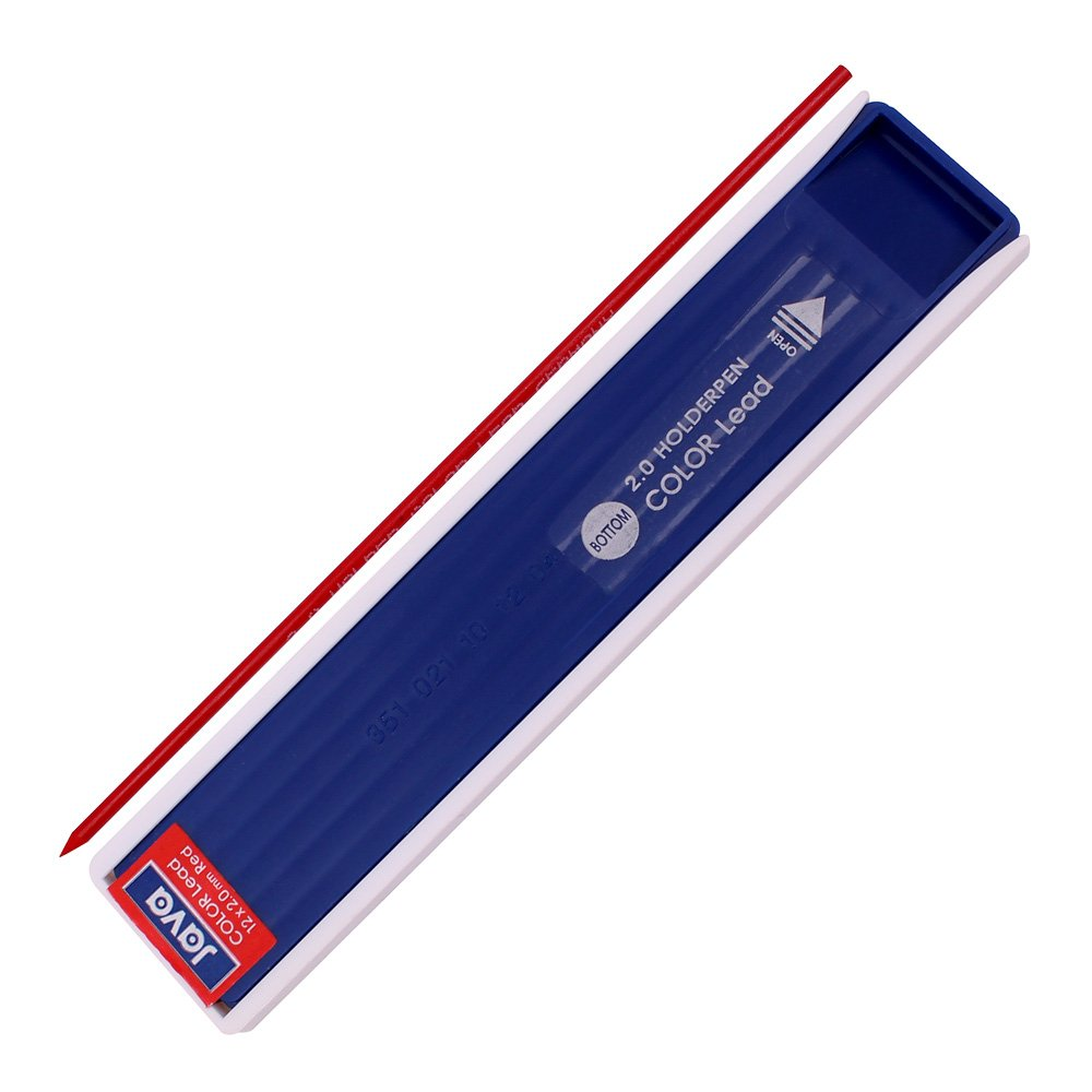 Java Pen 2.0 Mm Drafting Graphite Holder Pencil+Black/red/Blue Leads 3 Tube Set Sale by Javapen (Image #7)