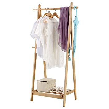 LANGRIA Portant SècheLinge à Vêtements Pliable Fait En Bois De - Portant bois