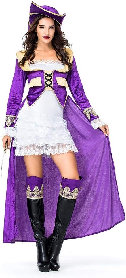 YaXuan Disfraz de Piratas Sexy para Mujer de Halloween/Carnaval ...
