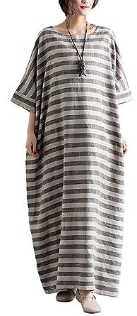 sekitoba-japan.inc Plus Size Grey Dresses for Women Round Collar and ...