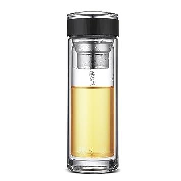 Uno es todo gybl015 380 ml botella de agua potable de vidrio, Ultra clara prueba