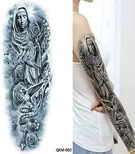 3ps-Mens Tattoo Full Arm Set Lion Tattoo King Tattoo Manga larga ...