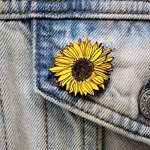 Hand Painted Sunflower Brooch | Handmade Sun Flower Pin