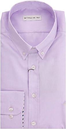 Etro Button Down Shirt IN Lilac Color Cotton, Hombre, Talla ...