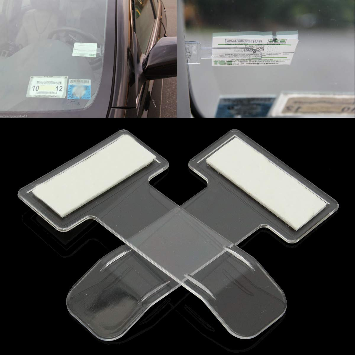 5x Car Vehicle Parking Ticket Permit Card Ticket Holder Clip Sticker Tools Set