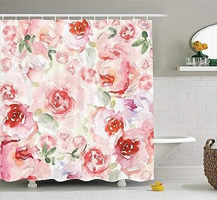 Cjxsa aquarelle Fleur Decor Collection, doux de couleur ple délavé ...