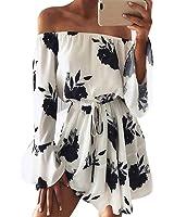 Neartime Womens Dress, Off Shoulder Floral Beach Beautiful Evening Party Short Dress