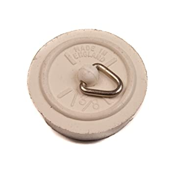 sourcing map Rubber Sink Plug Drain Stopper Fit 34-36mm with Ring for Bathtub Kitchen Bathroom
