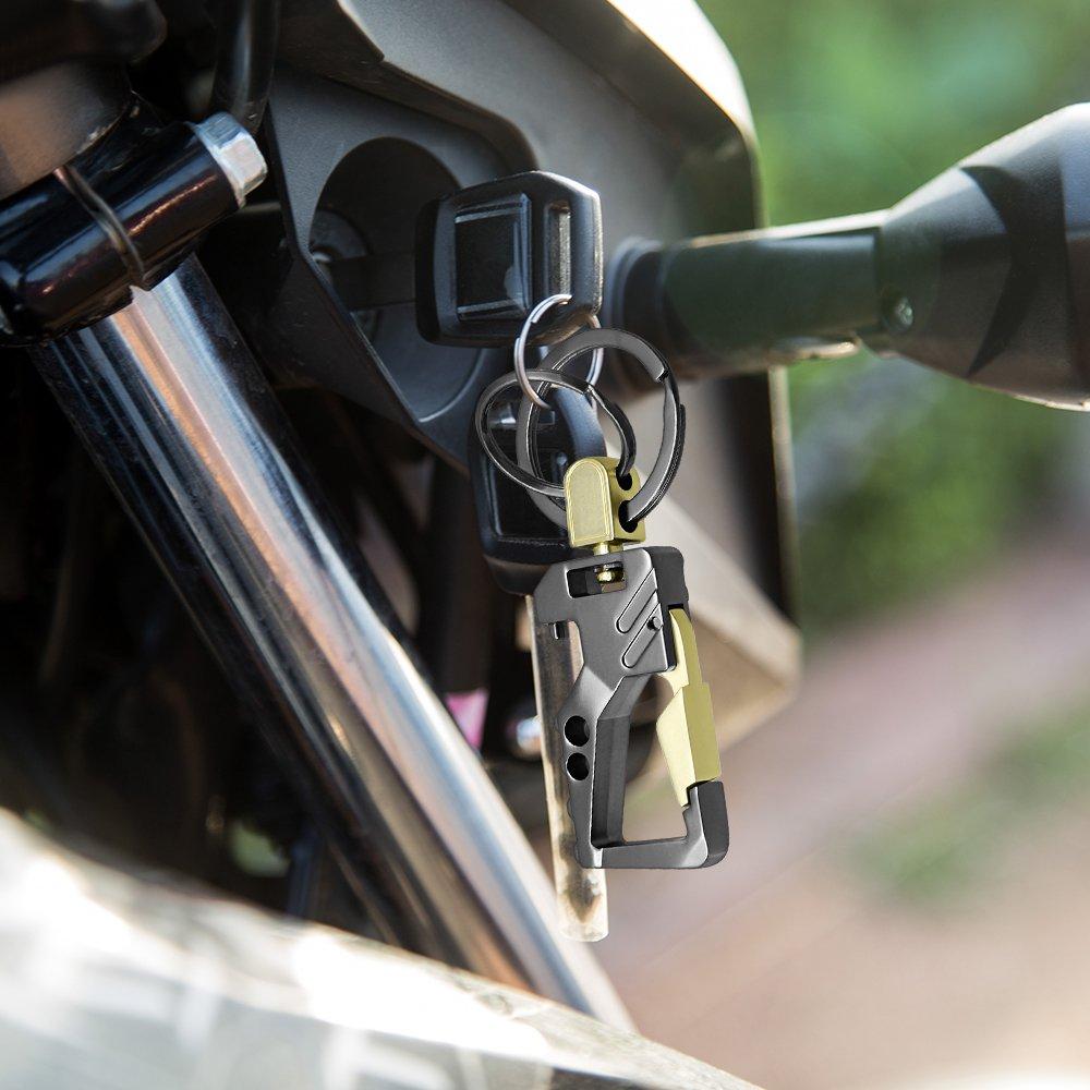 KEKU 2 Pack Car Key Chain Bottle Opener Keychain for Men and Women