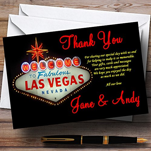 Amazon Las Vegas Sign Fabulous Personalized Wedding Thank You Cards Office Products
