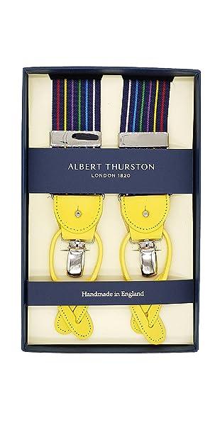 nuovo economico all'ingrosso online seleziona per il meglio Albert Thurston Bretelle Uomo Blu Righine Arcobaleno ...