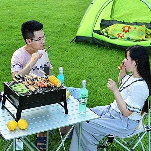 Barbecue HZY Mini Petit, Portable Charbon en Acier Inoxydable intérieur et extérieur Grill 37 X 27 X 20 cm