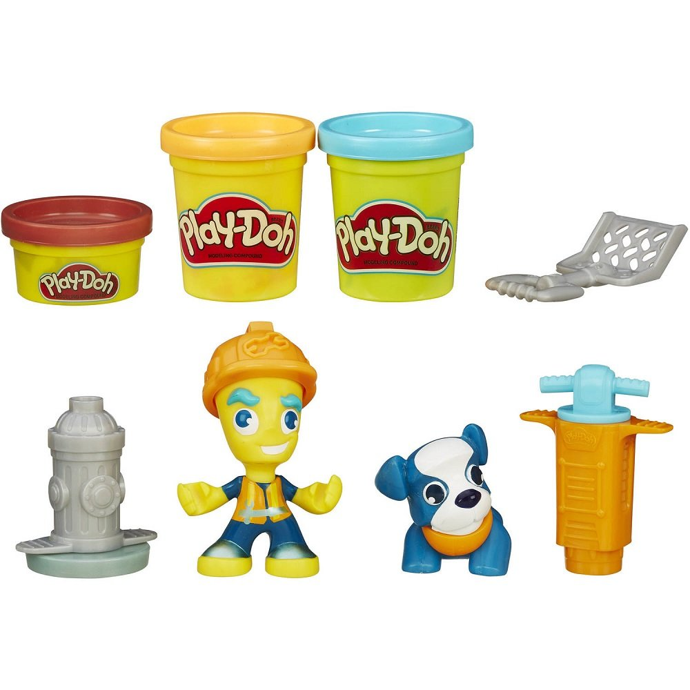 Play Doh Town Road Worker and Pup TRG