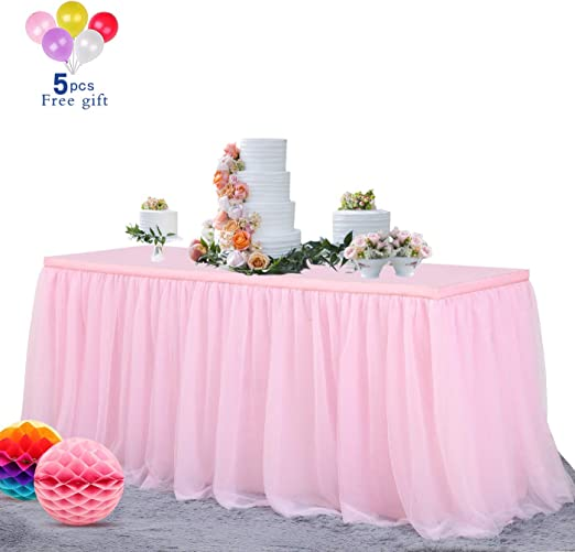 Home Tutu Table Skirt Cover Birthday Wedding Party Desk Decor Table Lace Cloth
