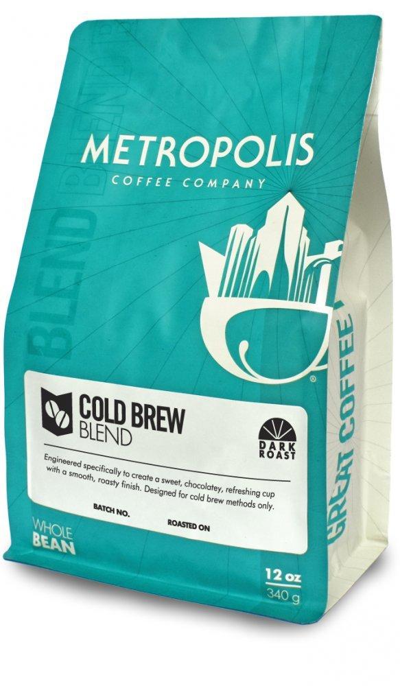 Metropolis Coffee 12 oz bag, Whole Bean Coffee (Cold Brew Blend)