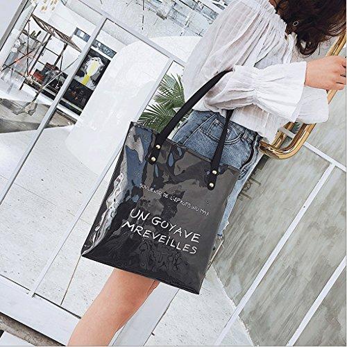 de Color GuoFeng Coreano Verano de Bolso de de Hombro de Casual Estilo Kraft Bolso Bolso Caqui Black Compras Bolso Papel pqpnTzxPB