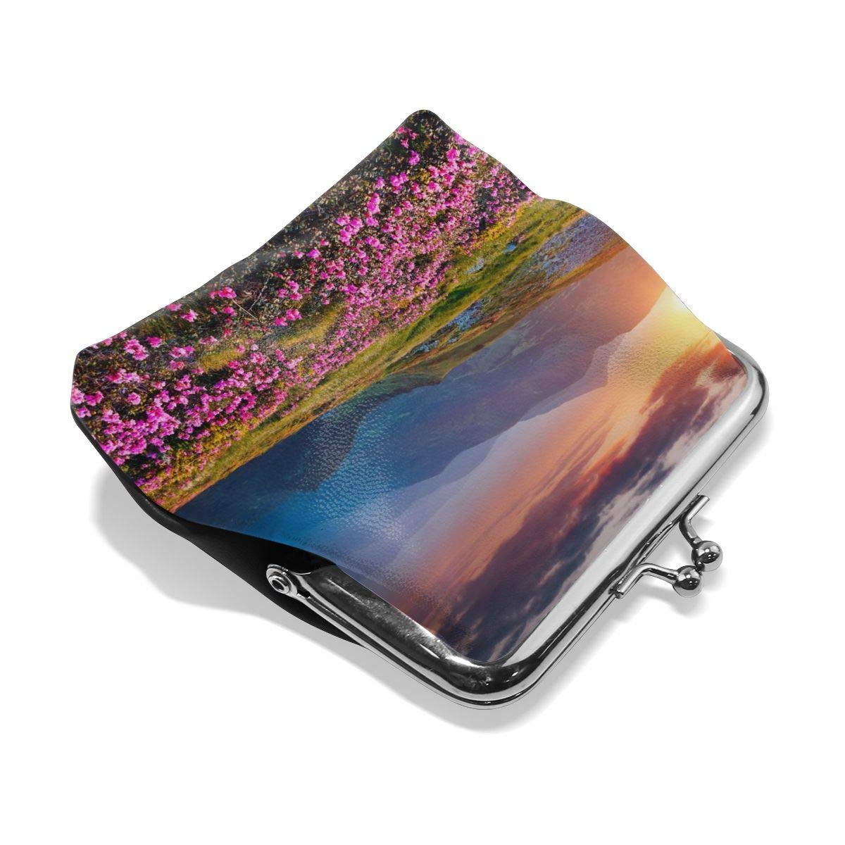 Architd Customized Cute Retro Coin Purse Personality Metal Lock Purse Girl Kiss And Buckle Change Purse Ladys HandbagRhododendron Blossoms In Carpathian Ukraine