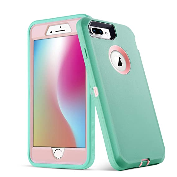 on sale 7a171 09e42 iPhone 8 Plus Case,[AOKSI] 5.5-Inch Defender Armor Three Layer Protective  case Dust-Proof Shockproof Drop-Proof Scratch-Resistant Shell for iPhone 7  ...